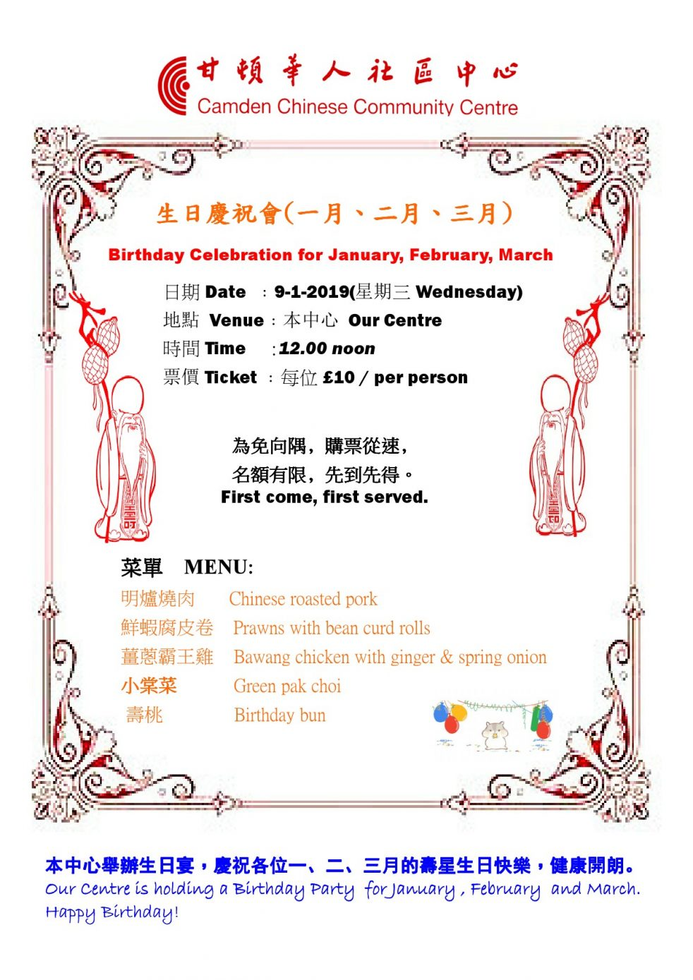 Birthday Celebration for JAN 2019-1